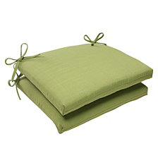 Forsyth Kiwi Squared Corners Seat Cushion, Set of 2