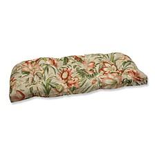 Botanical Glow Tiger Stripe Wicker Loveseat Cushion