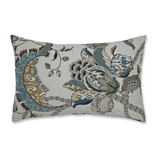Finders Keepers French Blue Rectangular Throw Pillow