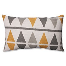Ikat Argyle Birch Rectangular Throw Pillow