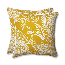 "Addie Egg Yolk 18.5"" Throw Pillow, Set of 2"