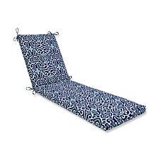 New Damask  Marine Chaise Lounge Cushion