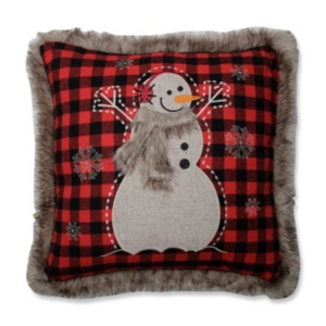 Fur Snowman Square Red/Black...