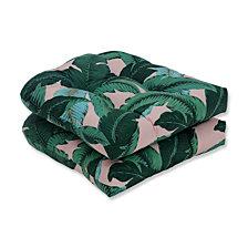 Swaying Palms Capri Wicker Seat Cushion, Set of 2