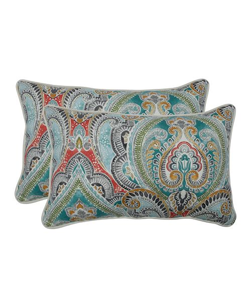 Pillow Perfect Pretty Witty Reef Rectangular Throw Pillow, Set of 2