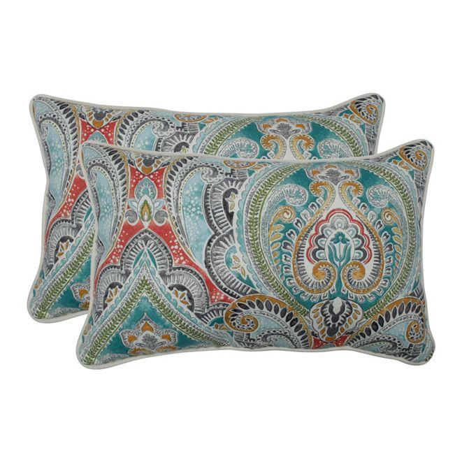 Pillow Perfect Pretty Witty Reef Rectangular Throw Pillow, Set of 2