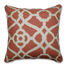 "Burnished Tile Spice 18"" Throw Pillow"