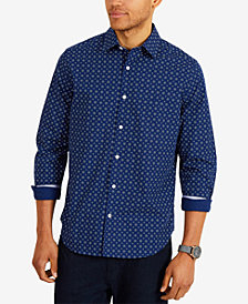 Nautica Men's Classic Fit All-Over Star Print Shirt