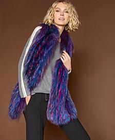 Multicolor Fox Fur Scarf