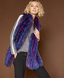 The Fur Vault Multicolor Fox Fur Scarf