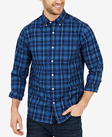 Nautica Men's Big & Tall Classic Fit Plaid Long Sleeve Shirt