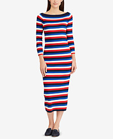 Lauren Ralph Lauren Striped Boat-Neck Dress