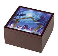 Precious Moments Heirloom Nativity Set Lighted Music Box