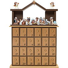 Countdown to Christmas Advent Calendar With Drawers And Figurines