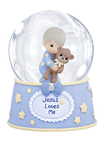Jesus Loves Me Musical Snow Globe, Boy