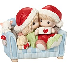 I Love You With My Whole Heart Couple On Couch Figurine
