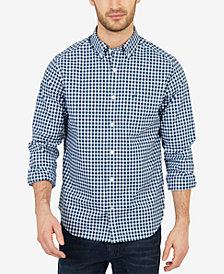 Nautica Men's Classic-Fit Check Button-Down Shirt