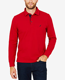 Nautica Men's Long-Sleeve Navtech Polo