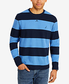 Nautica Men's Big & Tall Long Sleeve Thick Stripe Shirt