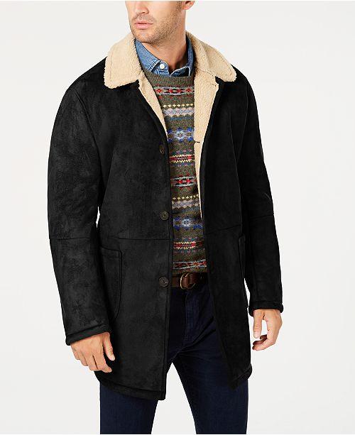 Lauren Ralph Lauren Men's Lefferts Classic-Fit Faux-Shearling Overcoat