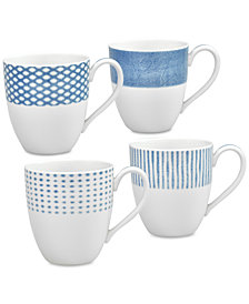 Noritake Hammock 4-Pc. Assorted Mug Set, Created for Macy's