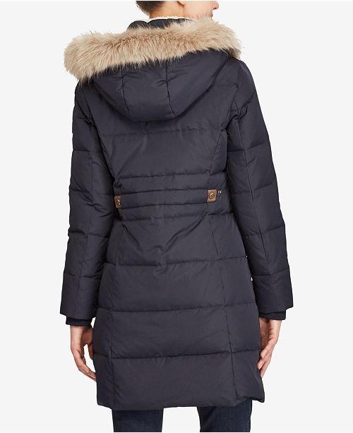 47d33ec0d33f67 Lauren Ralph Lauren Faux-Fur Down Coat & Reviews - Coats ...