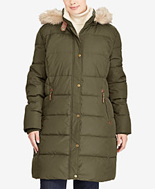 Lauren Ralph Lauren Plus Size Faux-Fur Hooded Puffer Coat