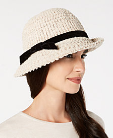 I.N.C. Heavy Bouclé Packable Cloche, Created for Macy's