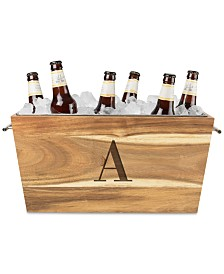 Cathy's Concepts Personalized Acacia Wood Beverage Trough
