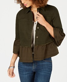 Style & Co Ruffled Denim Jacket, Created for Macy's