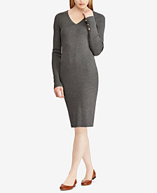 Lauren Ralph Lauren Button-Cuff Dress