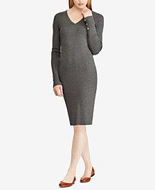 Lauren Ralph Lauren Button-Cuff Dress