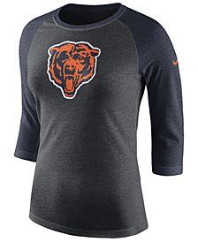 Nike Women's Chicago Bears Historic Logo Raglan T-Shirt