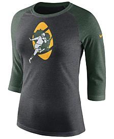 Nike Women's Green Bay Packers Historic Logo Raglan T-Shirt