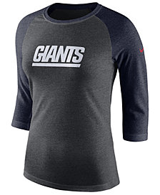 Nike Women's New York Giants Historic Logo Raglan T-Shirt