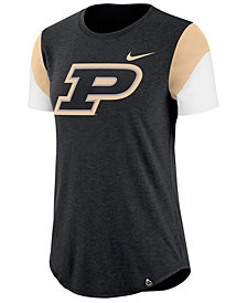 Nike Women's Purdue Boilermakers Tri-Blend Fan T-Shirt