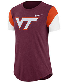 Nike Women's Virginia Tech Hokies Tri-Blend Fan T-Shirt