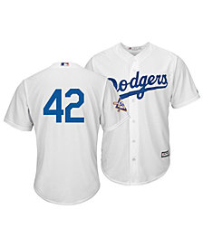 Majestic Men's Jackie Robinson Los Angeles Dodgers Replica Patch Jersey