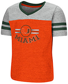 Colosseum Miami Hurricanes Pee Wee T-Shirt, Toddler Girls (2T-4T)