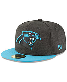 New Era Boys' Carolina Panthers On Field Sideline Home 59FIFTY Fitted Cap