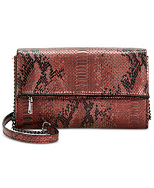 I.N.C. Averry Python-Embossed Crossbody, Created for Macy's