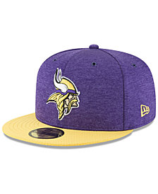 New Era Boys' Minnesota Vikings On Field Sideline Home 59FIFTY Fitted Cap