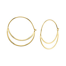 Unwritten Double Hoop Earring in Sterling Silver