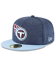 New Era Boys' Tennessee Titans On Field Sideline Home 59FIFTY FITTED Cap