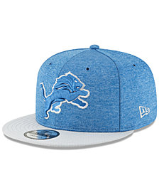 New Era Boys' Detroit Lions Official Sideline Home 9FIFTY Stretch Fitted Cap 2018