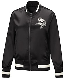 Touch by Alyssa Milano Women's Minnesota Vikings Touch Satin Bomber Jacket