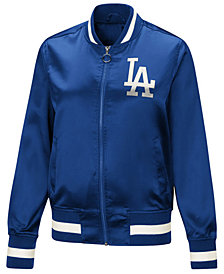 Touch by Alyssa Milano Women's Los Angeles Dodgers Touch Satin Bomber Jacket