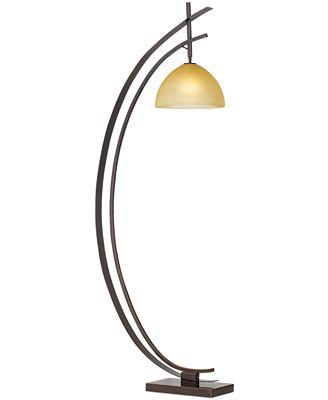 kathy ireland home by Pacific Coast Bronze Arc Orbit Floor Lamp ...