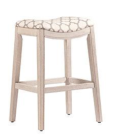 under counter kitchen stools pottery sorella counter stool in white wirebrushed finish bar stools stools kitchen macys