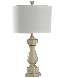 StyleCraft Old Cream Distress Table Lamp